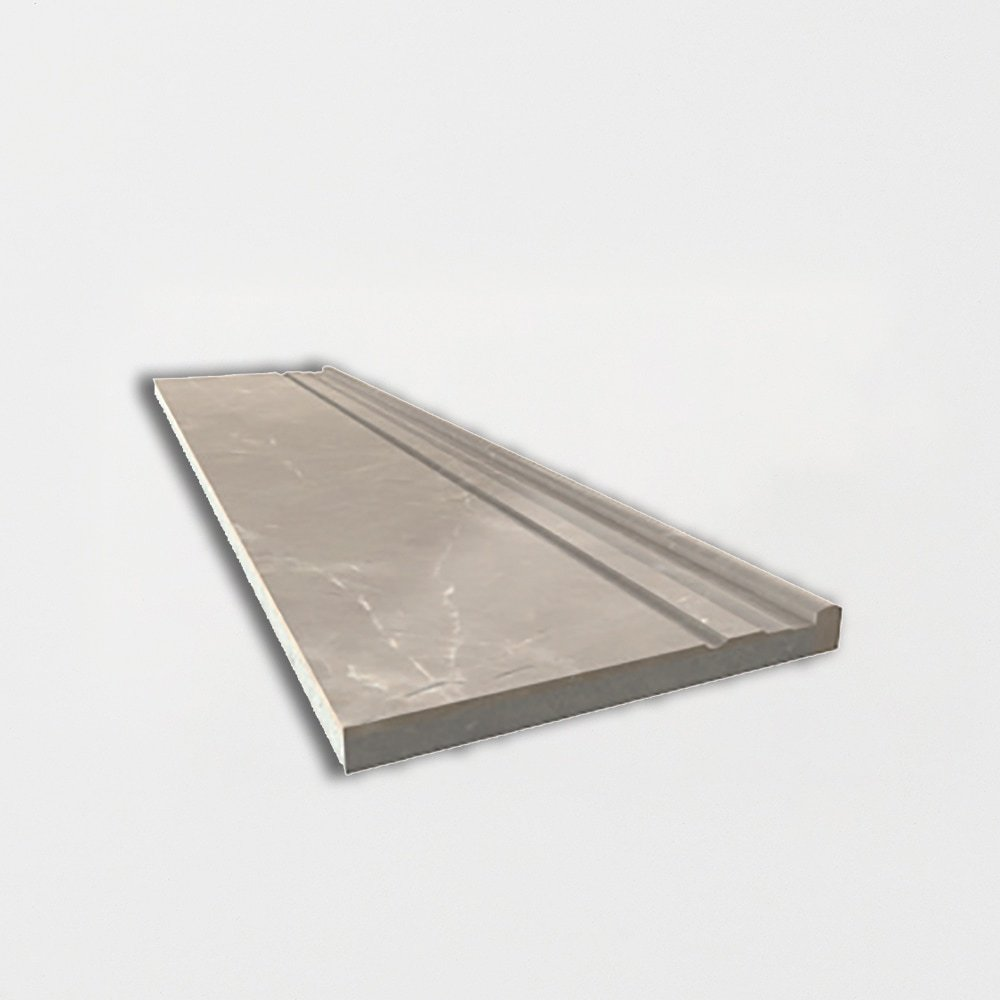 Fawn Grey Polished Marble Baseboards 6×24