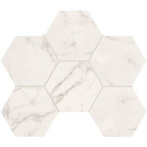 Statuario Gold Honed&rectified Hexagon Porcelain Mosaics 12x16 1/3