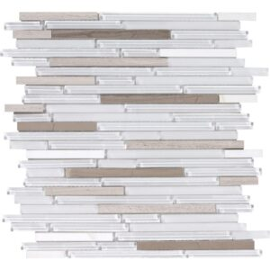 Tirramisu Gloss Liner Blend Glass Mosaics 12x12