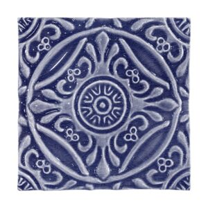 Iris Crackled Medallion Ceramic Wall Decos 6x6