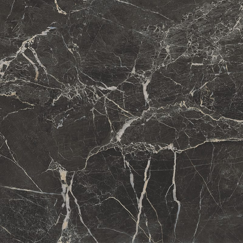 St Laurent Black Polished Porcelain Tiles 24×24