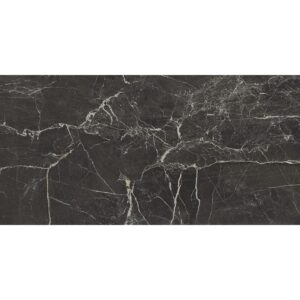 St Laurent Black Polished Porcelain Tiles 12x24