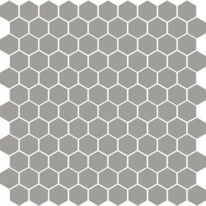Dark Gray Matte Hexagon Ceramic Mosaics 12x12