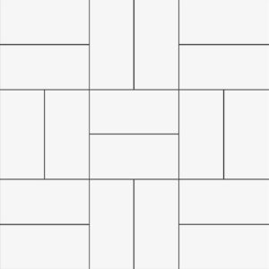 White Glossy Crosshatch Ceramic Mosaics 12x12