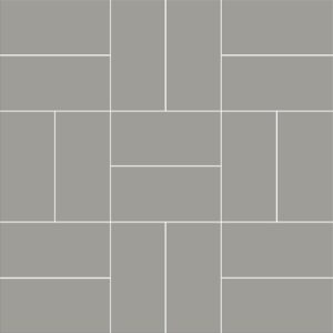 Dark Gray Matte Crosshatch Ceramic Mosaics 12x12
