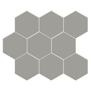 Dark Gray Matte Midi Hexagon Ceramic Mosaics 8x10