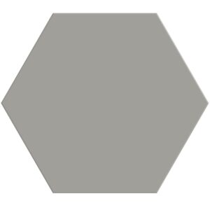 Dark Gray Matte Hexagon Ceramic Tiles 8 1/4