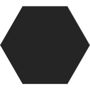 Black Matte Hexagon Ceramic Tiles 8 1/4