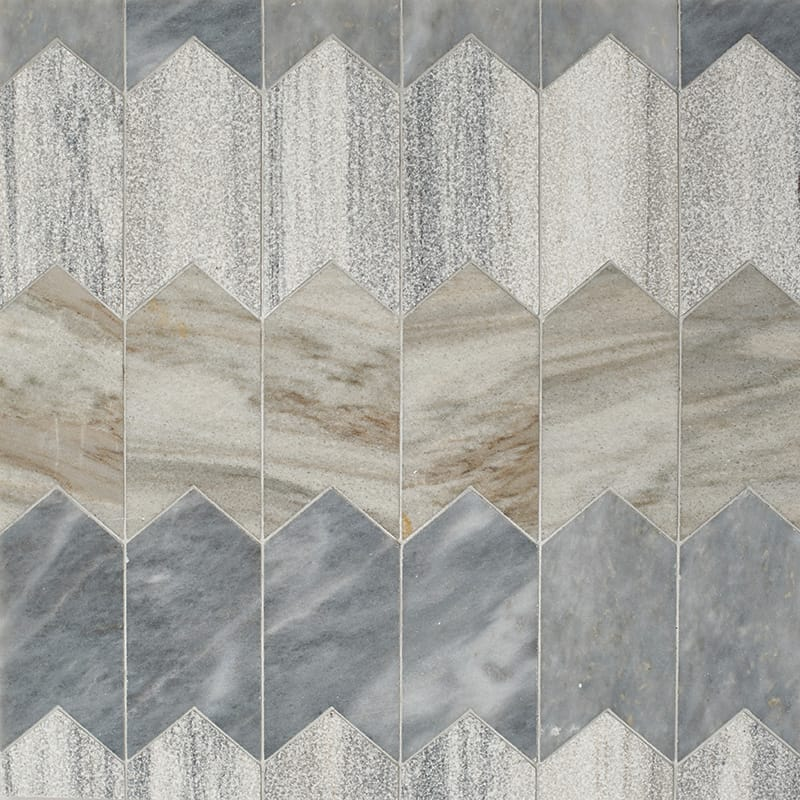 Skyline, Allure Multi Finish Freccia Marble Waterjet Decos 3×4 29/32