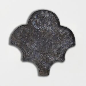 Boho Bronze Glazed Fan Shape Terracotta Tiles 3 1/2x4 1/2