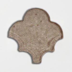Copeland Taupe Glazed Fan Shape Terracotta Tiles 3 1/2x4 1/2