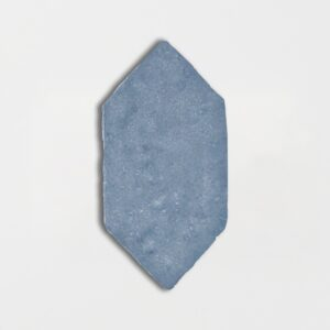 Hudson Blue Glazed Picket Terracotta Tiles 5x10