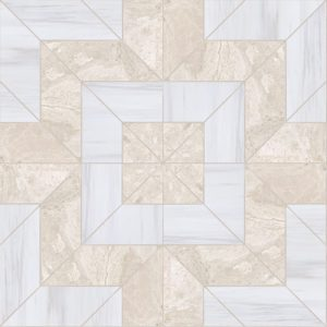 Bianco Dolomiti, Diana Royal Multi Finish Beni Marble Waterjet Decos 9x9