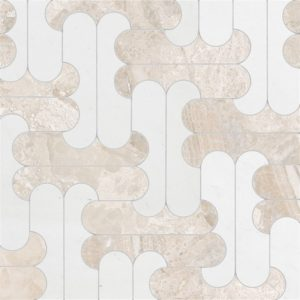 Diana Royal, Aspen White Multi Finish Rya Marble Waterjet Decos 8 7/16x11 1/4