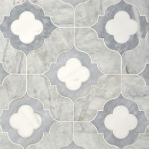 Afyon Grey, Avenza Light, Dolomite Multi Finish Irene Marble Waterjet Decos 11 3/8x11 3/8
