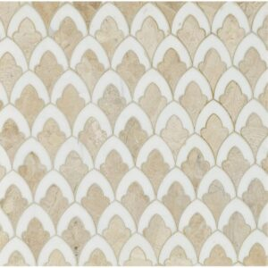 Diana Royal, Dolomite Multi Finish Sophia Marble Waterjet Decos 8 3/4x13 1/2