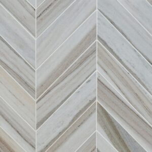 Skyline Vein Cut Multi Finish Bosphorus Marble Waterjet Decos 13 7/16x 13 7/16