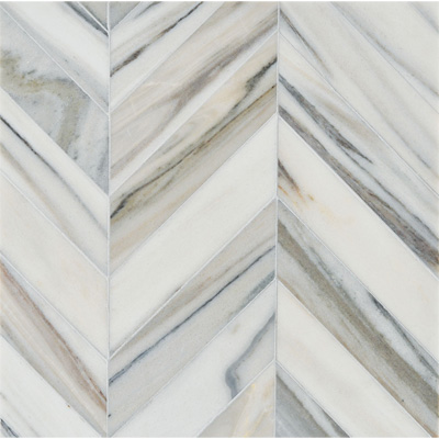 Skyline Vein Cut Multi Finish Bosphorus Marble Mosaics 13 7/16x 13 7/16