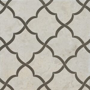 Britannia, Bosphorus Honed Gaia Limestone Waterjet Decos 11 3/8x11 3/8