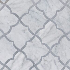 Avenza, Allure Light Multi Finish Gaia Marble Waterjet Decos 11 3/8x11 3/8