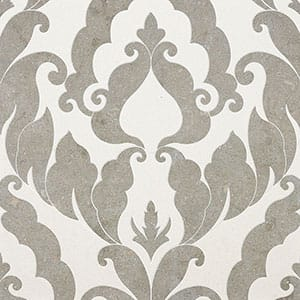 Champagne, Olive Green Multi Finish Rumi Limestone Waterjet Decos 13 9/16x18