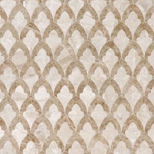 Diana Royal, Paradise Multi Finish Sophia Marble Waterjet Decos 8 3/4x13 1/2