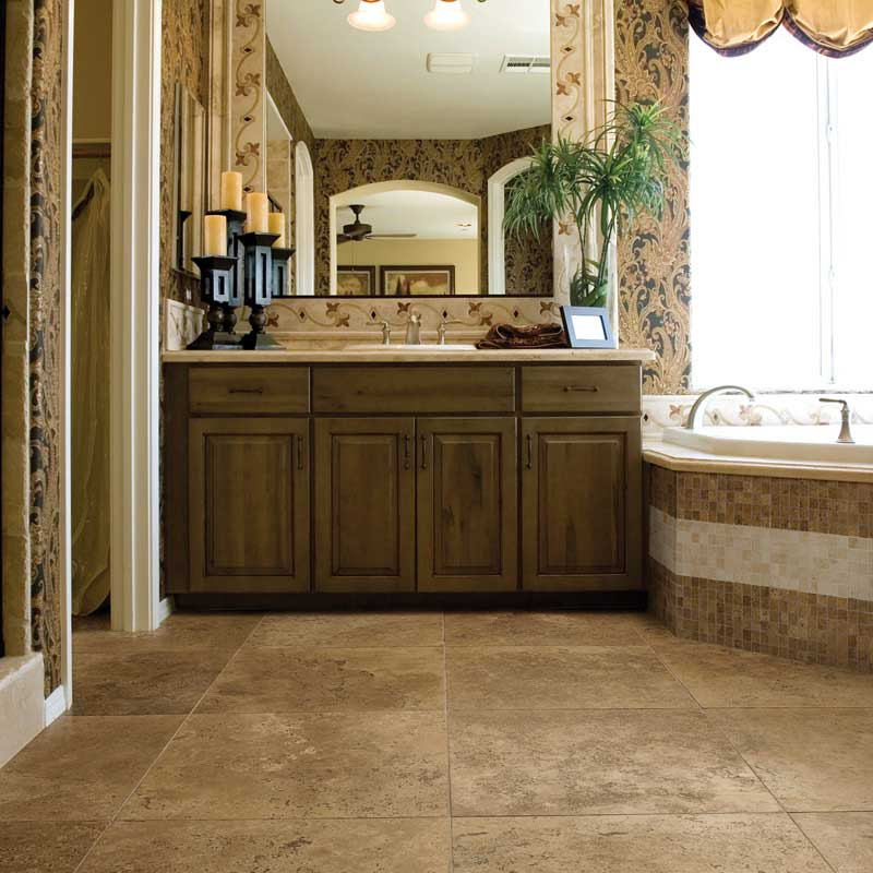 Walnut Dark Travertine Tile Marble Systems Inc