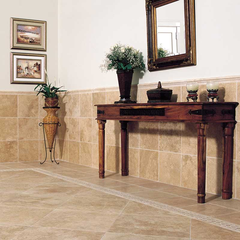 Ivory Travertine Tile Home Collection The