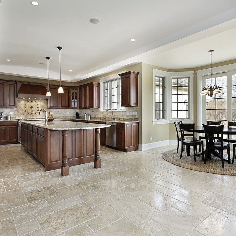 Ivory Light Honed Filled Travertine Tiles 18x18: Marble Systems Inc