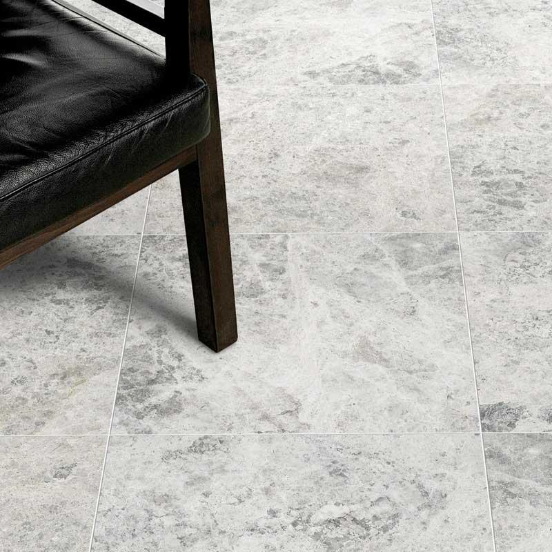 Honed marble floor tile