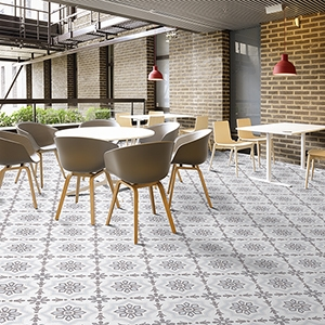 BROWN, LIGHT BROWN, BEIGE, GRAY POLISHED BEL CANTO CEMENT TILES (TL18424)