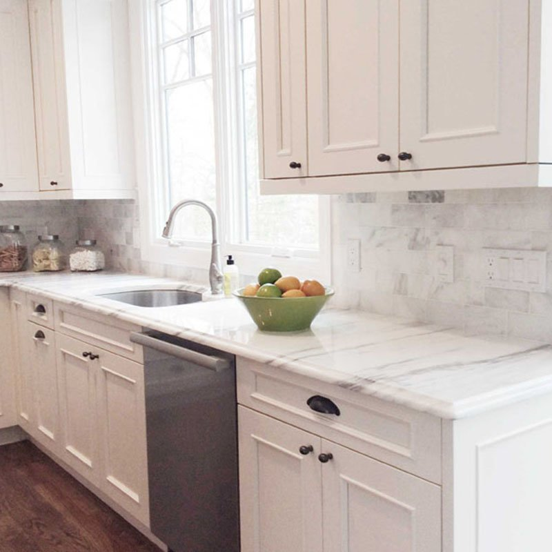 White Carrara Polished Marble Collection