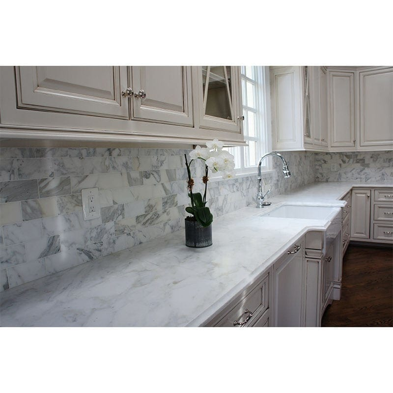 Calacatta Gold Honed Marble | Marble Systems Inc. on