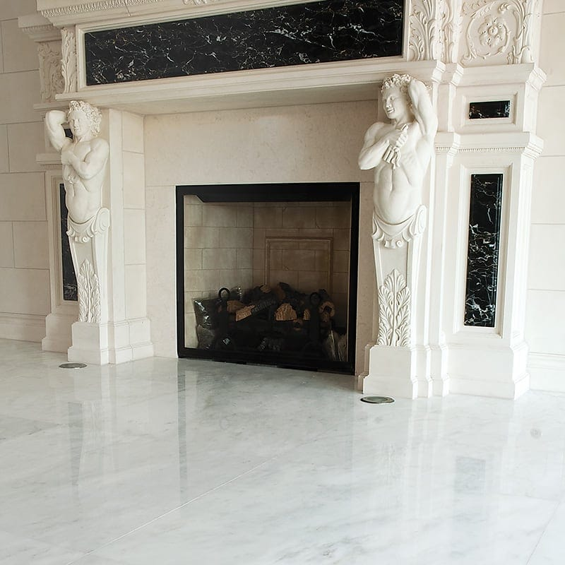 ROYAL WHITE POLISHED MARBLE TILES (TL90859)