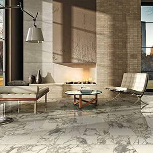 Carrara Marble Porcelain Tile Collection