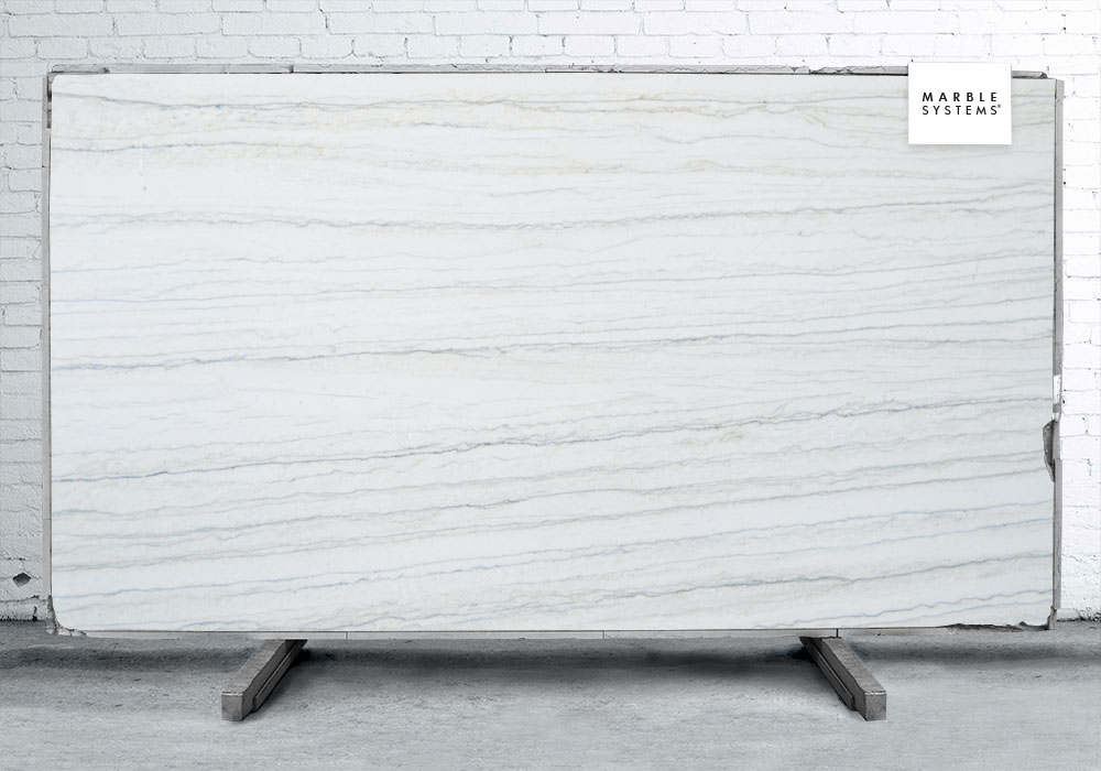 WHITE MACAUBAS POLISHED QUARTZITE# SLAB SL10053-68439