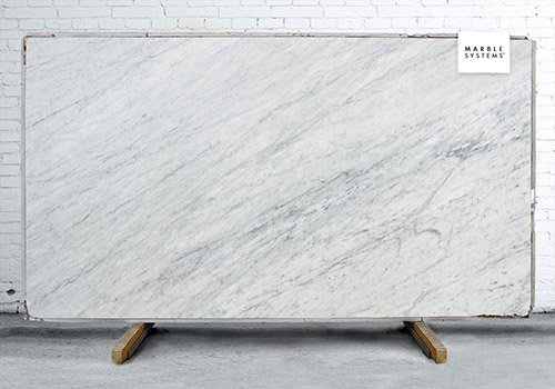 White Carrara Polished Marble Slab Random 3/4