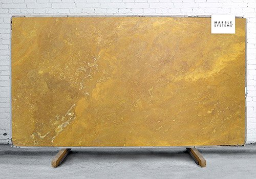 Golden Sienna Honed&filled Travertine Slab Random 1 1/4