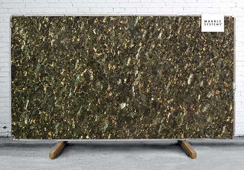 Peacock Green Polished Granite Slab Random 1 1/4