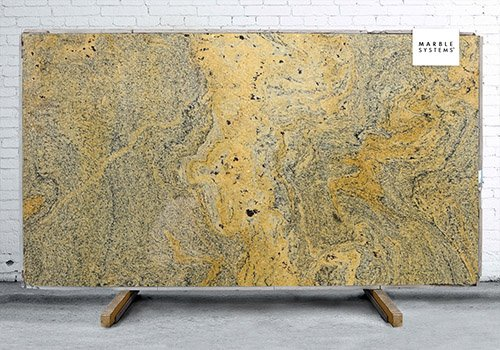 Vyara Gold Polished Granite Slab Random 1 1/4