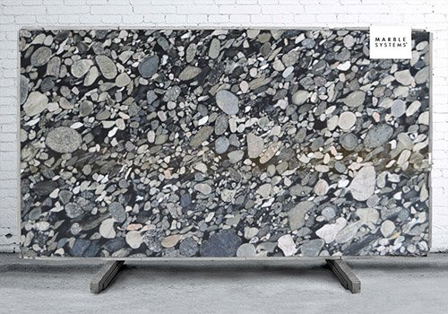 Black Morgan Polished Granite Slab Random 1 1/4
