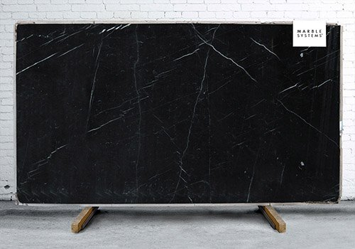 Black Polished Marble Slab Random 3/4