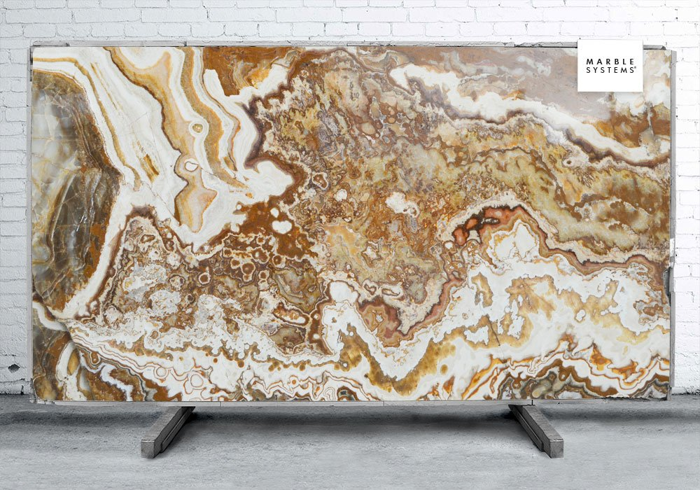 FANTASY ONYX POLISHED ONYX SLAB SL10831-18413