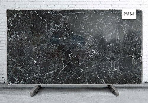 Black Levanto Polished Marble Slab Random 1 1/4