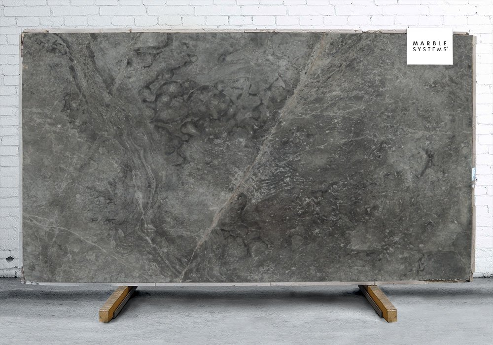 Baltic Gray Dark Polished Marble Slab Random 3/4