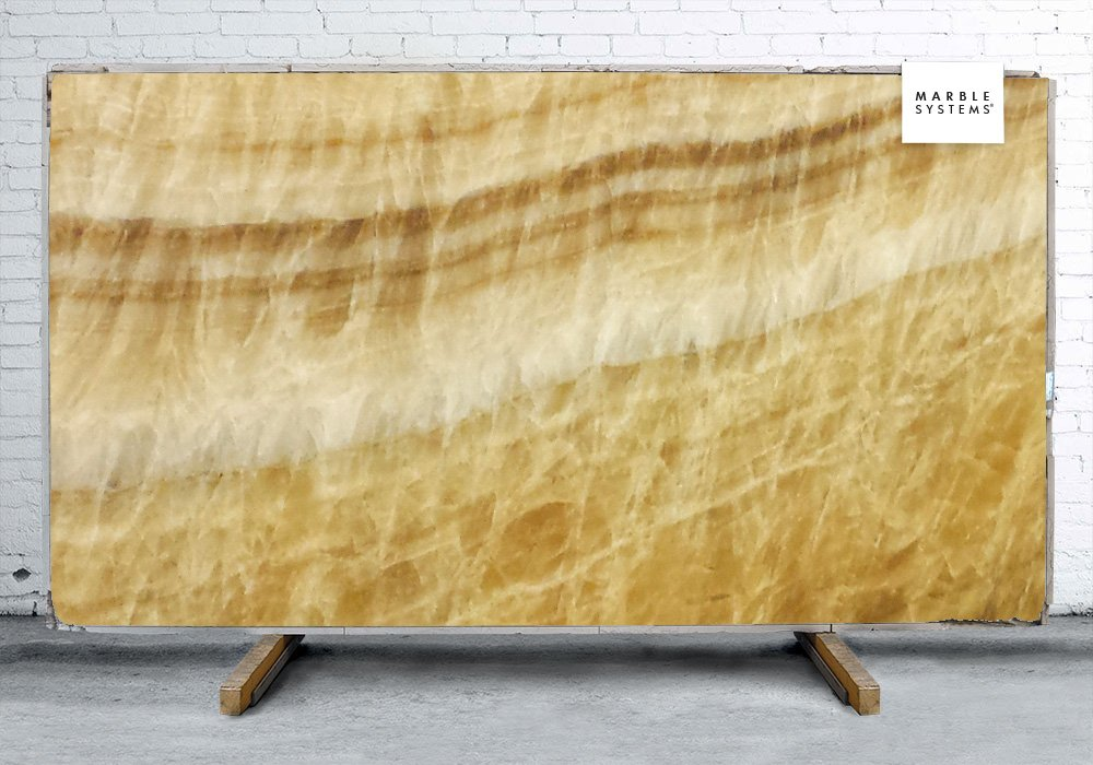 Golden Brown Onyx Polished Onyx Slab Random 3/4