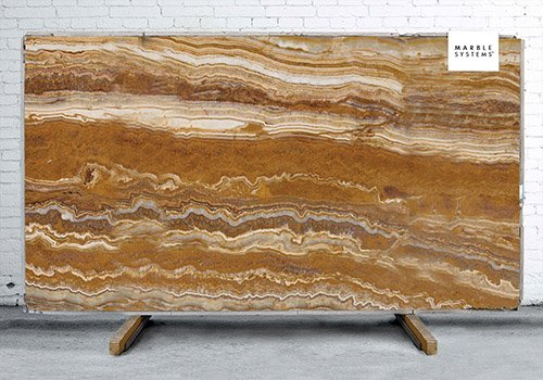 Tiger Onyx Polished Onyx Slab Random 3/4