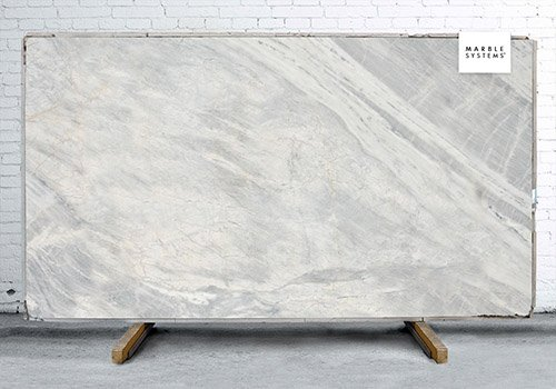 Ice Gray Polished Marble Slab Random 3/4