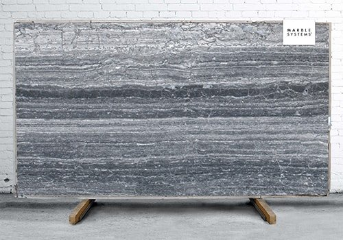 Haisa Black Polished Marble Slab Random 1 1/4