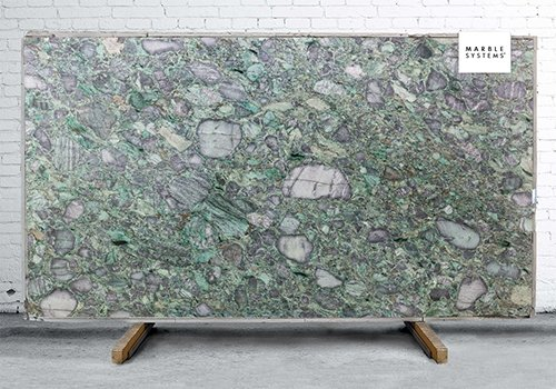 Emerald Green Polished Quartzite Slab Random 1 1/4